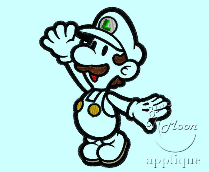 Cute Luigi Applique Design For Embroidery By Embroiderycorner On