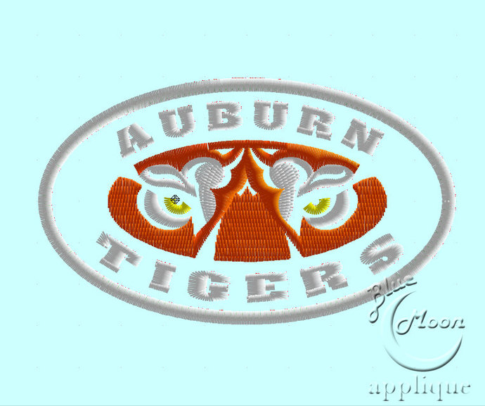 College Tigers Applique Design Embroidery Machine. Size 4x4.  Instant Download