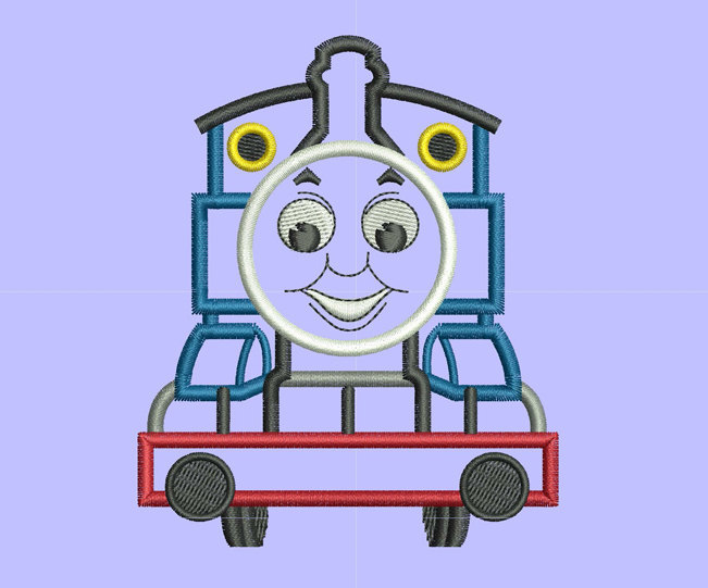 thomas train applique Design for Embroidery Machines.  Size 5x7.  Instant
