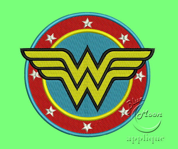 wonderwoman emblem Design for Embroidery Machines. Size 4x4.  Instant Download