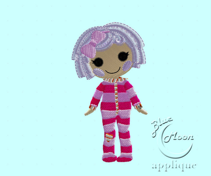 lalaloopsy little  Featherbed Machine Embroidery Design. Size 4x4.  Instant