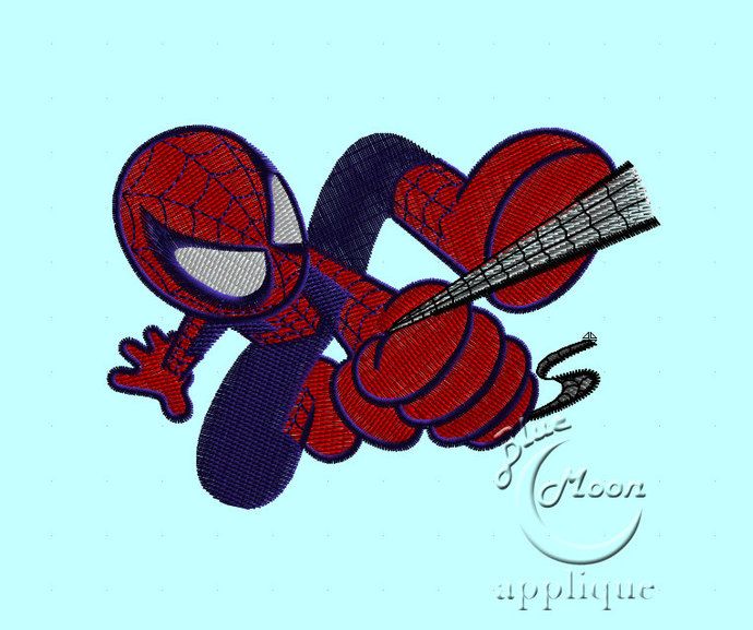 mini spider-man Design for Embroidery Machines. Size 4x4.  Instant Download