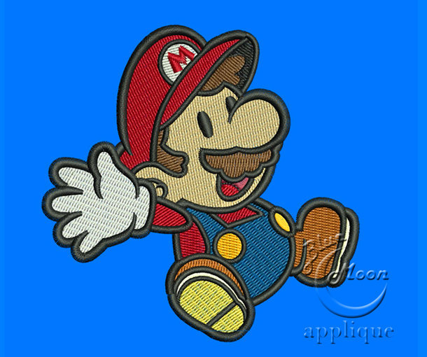 cute super mario Design for Embroidery Machines. Size 4x4.  Instant Download