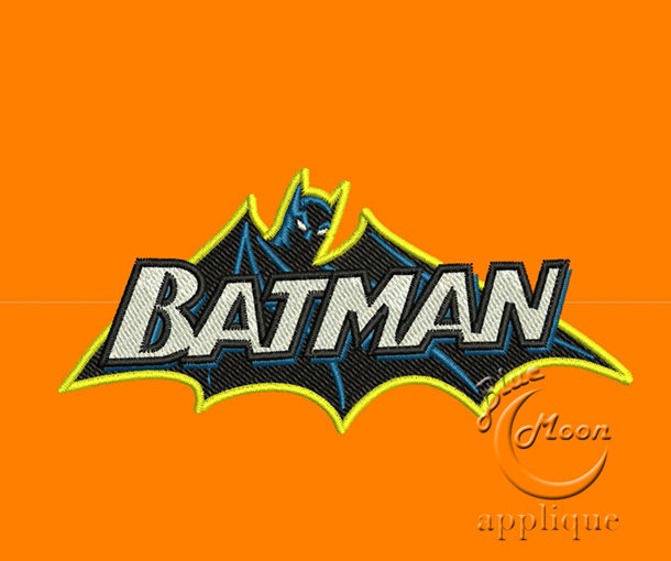 classic batman Design for Embroidery Machines. Size 4x4.  Instant Download