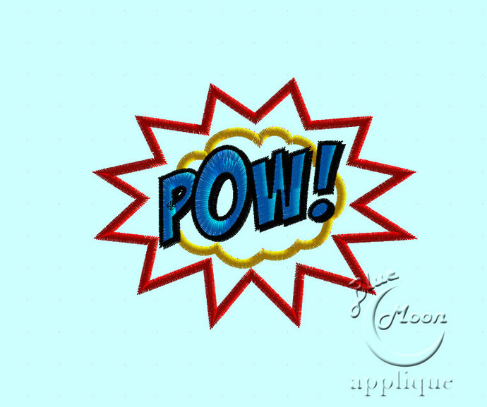 POW Applique Design for Embroidery Machines. Size 4x4.  Instant Download