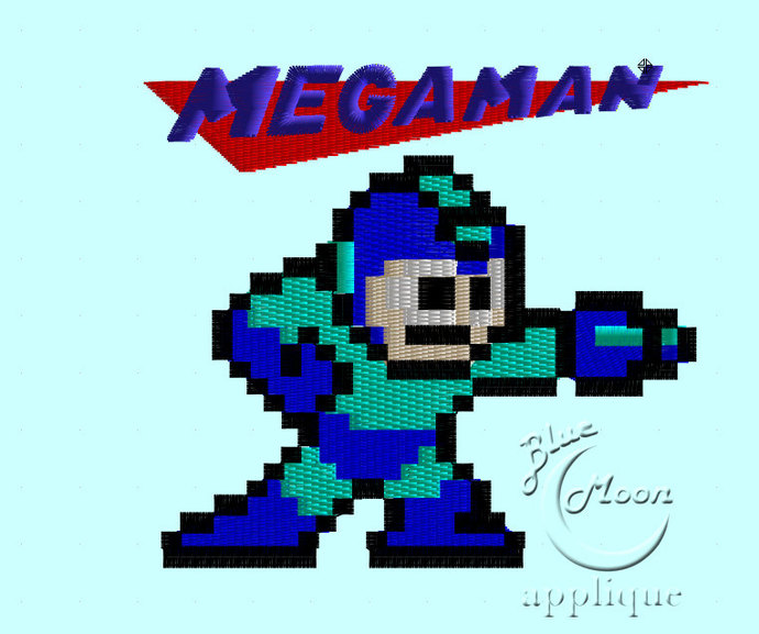 megaman Design for Embroidery Machines 4x 4 - instant download