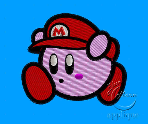 Cute Super Mario Kirby Design For By Embroiderycorner On Zibbet
