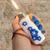 Spring blossom flower lighter pendant with custom flower color choice