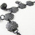 Gunmetal Choker necklace with florasl metal details