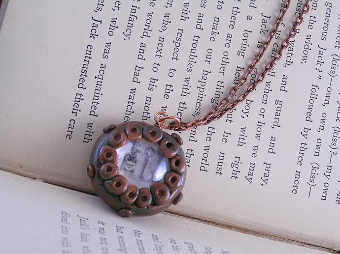 Alice in Wonderland potion pendant