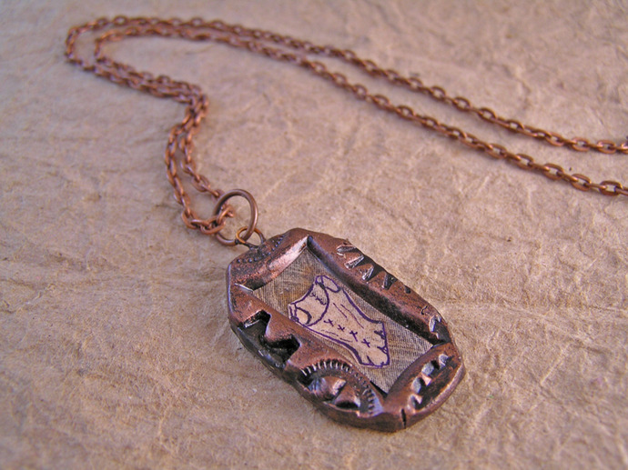 Victorian corset  steampunk pendant with clockwork gears frame