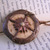 Steampunk Glow in the dark Compass Pendant with bronze finish