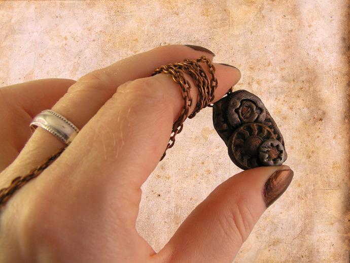 Clockwork gears steampunk pendant