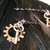 Steampunk gears and keys haripins, set of 2