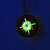 Steampunk glow in the dark Compass pendant with yellow center