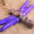 Shimmering Purple dragonfly pendant with steampunk clockwork gears