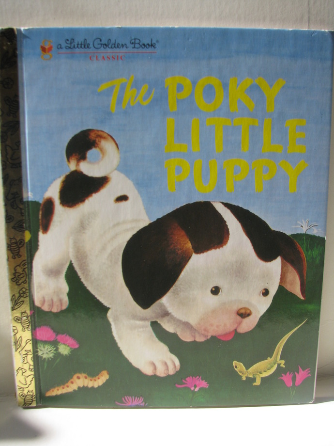 Vintage Children's Little Golden Book The Poky Little Puppy 1970