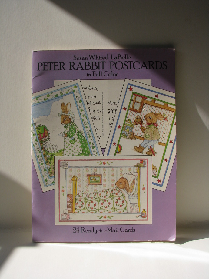 Susan Whited Labelle - Peter Rabbit Postcards in Full Color  1984