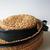 Vintage Raffia Hat - Burnt orange color with black Ribbon and black Trim -