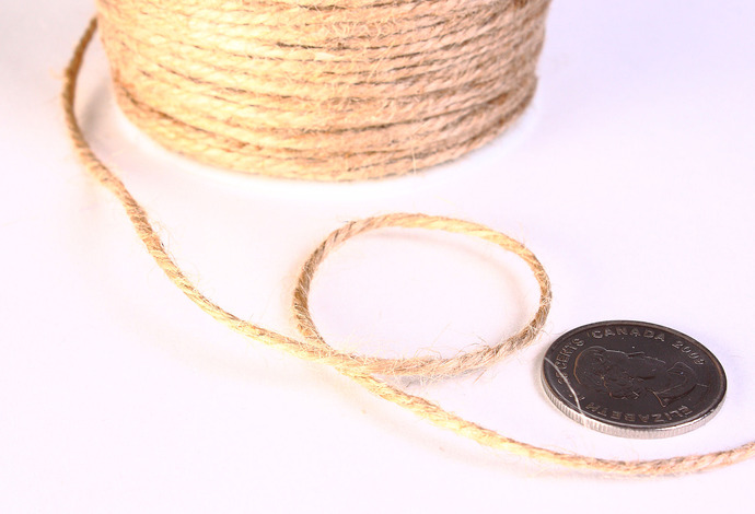 2mm Tan beige colored Hemp Cord - 10 feet - Packaging string - Macrame hemp cord