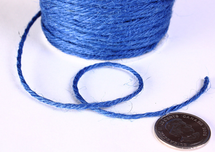 2mm Blue colored Hemp Cord - 10 feet - Packaging string - Macrame hemp cord -