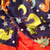 Baby Boy Minky Blanket  Dinosaur Navy and Orange  Infant Boy Bedding 29 x 36 in