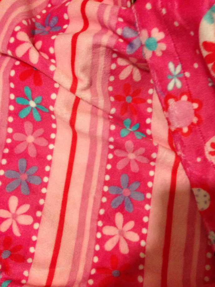 Minky  Toddler Blanket  Funky Monkey Floral Stripe Back. Toddler Size 40 x 50 in