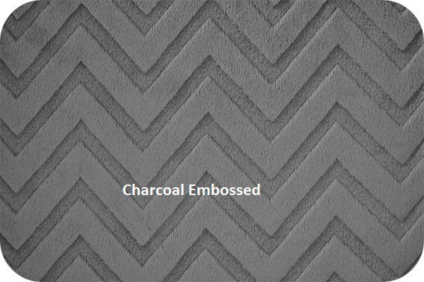 Chevron Minky Blanket Black Grey Silver with Black Minky Dot Back Toddler or Lap