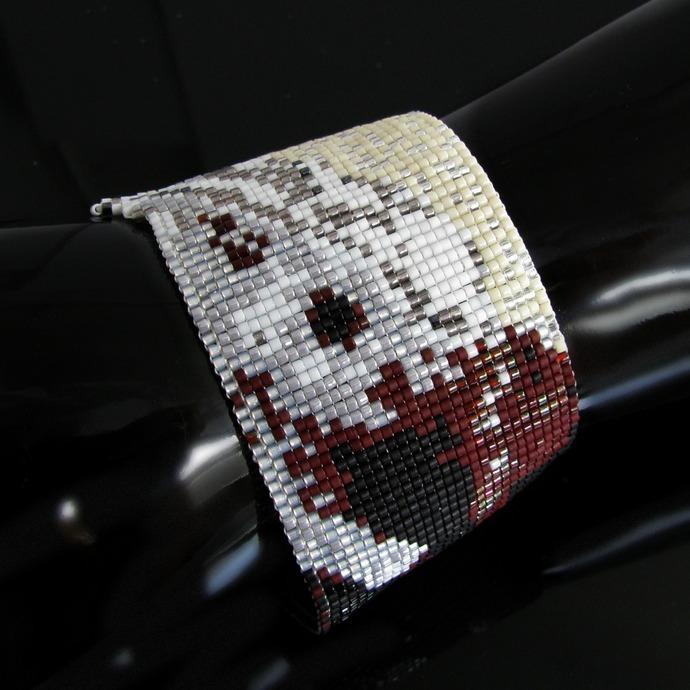Killer rabbit bead loomed cuff