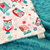 Toddler Minky Blanket  White with Coral  and Teal Owls and  Minky Dot Back