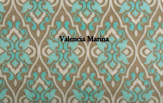 Blue Minky Baby Blanket Blue and Brown. Mar Bella  Ivory Minky dot back Crib