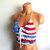 Crochet American Flag Top, Crochet Festival Halter Top by Vikni Designs