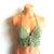 Vikni Designs Festival Hippie Halter Top, Sage Green Crochet Crop Top
