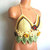 Crochet Flower Leaf Hippie Halter Top by Vikni Designs