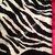 Toddler Minky Blanket Zebra Animal Print  Black Dot  Back    Toddler / Teen size