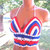 Crochet Boho Hippie American Flag Halter Top by Vikni Designs