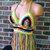 Festival Hippie Vikni Designs Crazy Color Halter Top