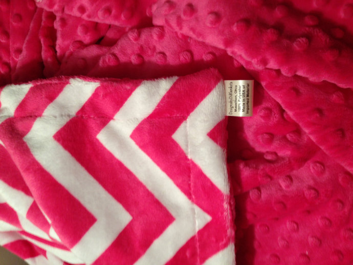 Adult Throw Minky Chevron Blanket By DesignsByDiBlankets On Zibbet Custom Pink Chevron Throw Blanket