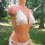 Brazilian Cheeky Bikini in Natural by Vikni Designs