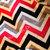 Minky Chevron Baby Blanket Red Grey  Black  with Grey Dot Back  Crib Size 36 x