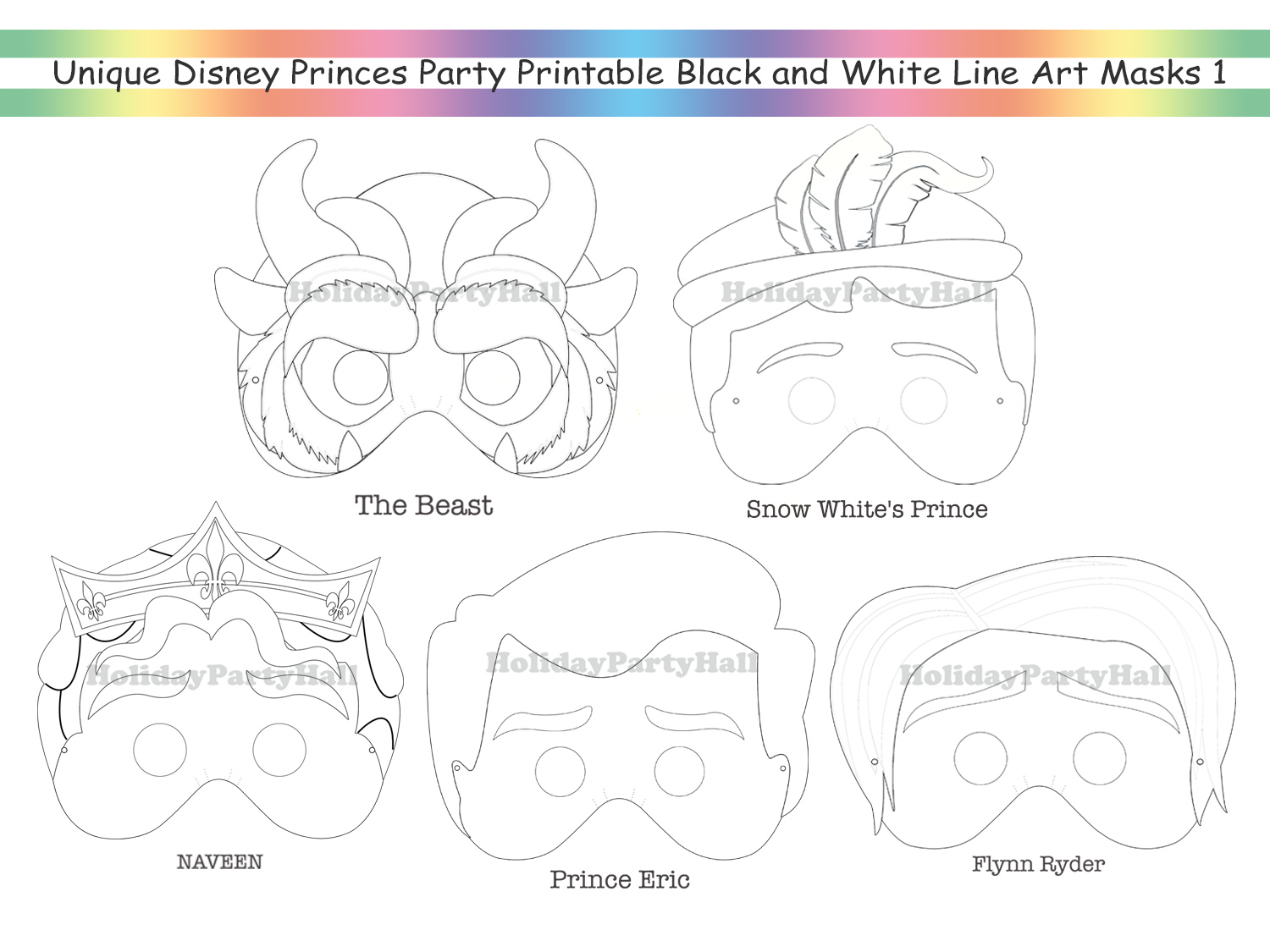 Sleeping Beauty And Prince Coloring Pages Printable | 1125x1500