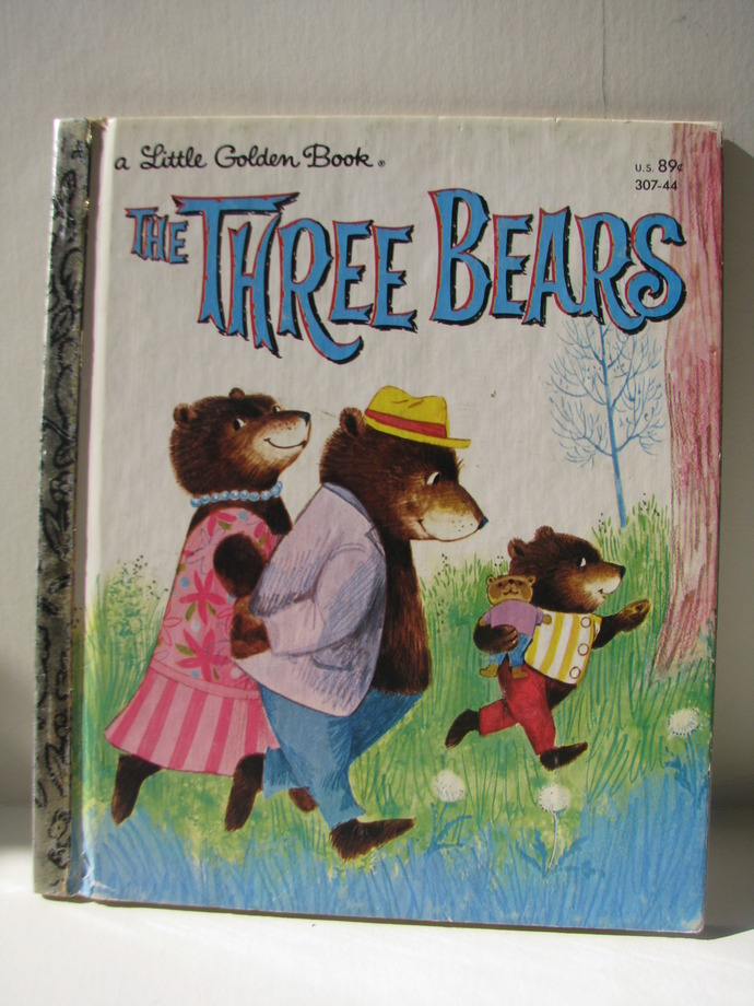 1965 Little Golden Book - The Three Bears, as told by Mabel Watts