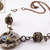 Steampunk clockwork 2 in 1 necklace with gemmed metal beads and filigree
