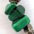 Handmade Shades of Green Necklace with Fish Beads - Moonstone, Malachite,