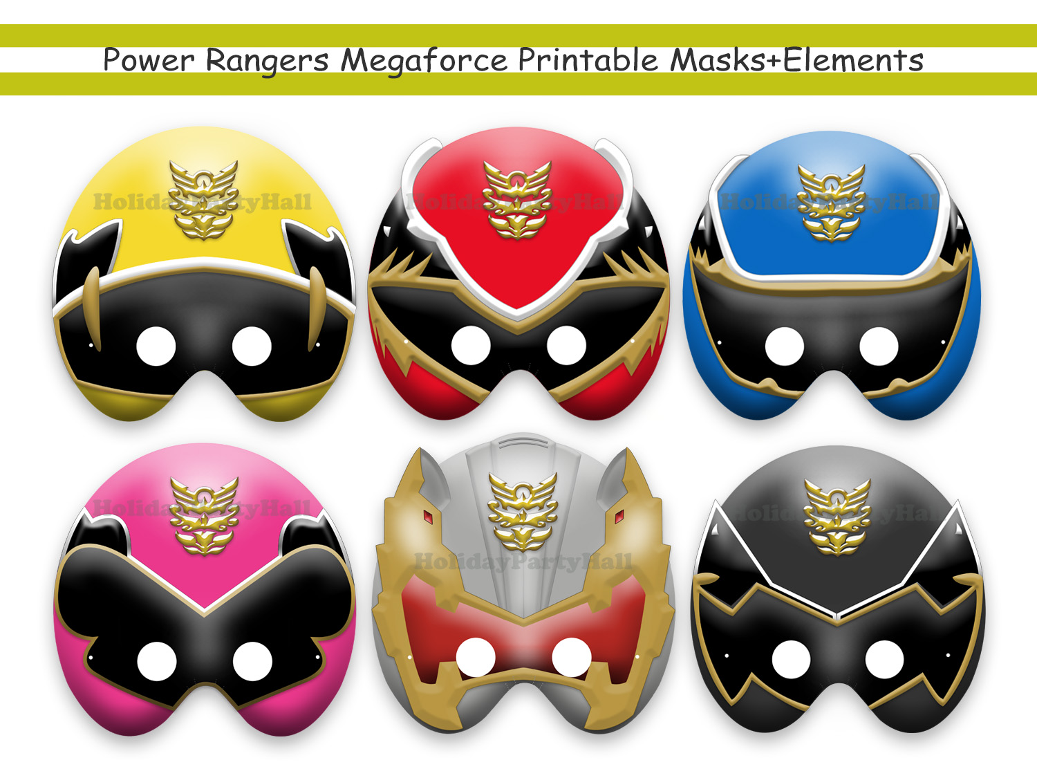 graphic about Power Ranger Mask Printable identify One of a kind Electricity Rangers Megaforce Printable Masks+Things,occasion,mask,birthday,Yellow,Crimson,Blue,Crimson,Silver,Black,invitation,image booth prop