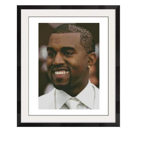 ALL STITCHES - KANYE WEST CROSS STITCH PATTERN .PDF -543d