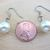 Cream- Colored Simple Glass Pearl Dangle Earrings - Short - Handmade with