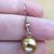 Short Simple Glass Pearl Earrings - Honey Colored, Brown, Tan - Handmade in the