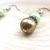 Pale Spring Green and Golden Honey Brown Dangle Earrings - Glass Pearls -