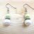 Pale Pink and Pastel, Spring Green Dangle Earrings - Glass Pearls - Handmade,